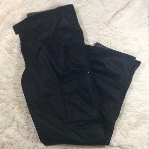 Aperture Solid Black Ski Pants